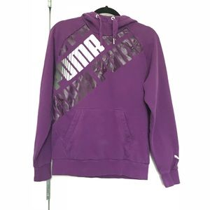 Puma Sweatshirt Graphic Hoodie Purple Size S